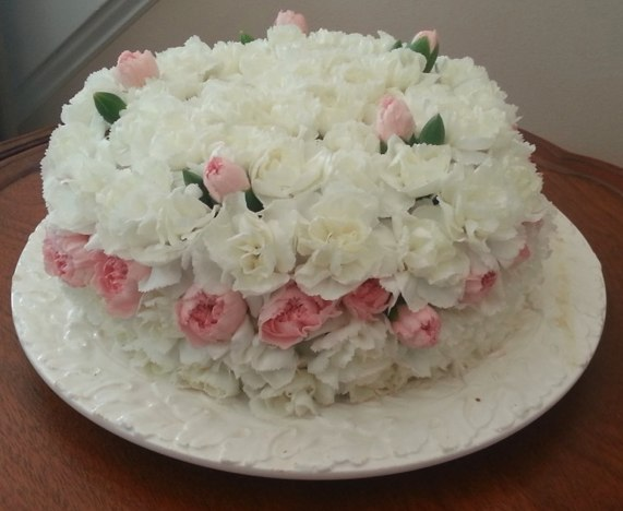 Make a flower cake for easter exeter area garden club connies cake connies beautiful cake mightylinksfo