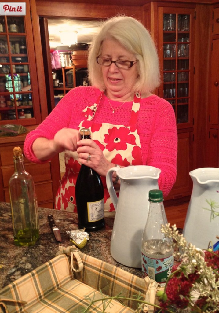 Susan prepares an Italian luncheon for the promise tree.
