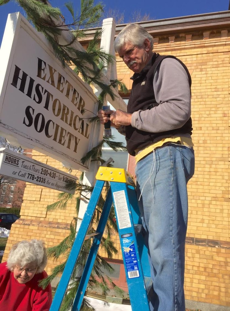 Decorating the sign with a little help from our friends!